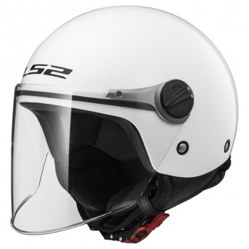 Casque Jet LS2 Wuby Solid Blanc