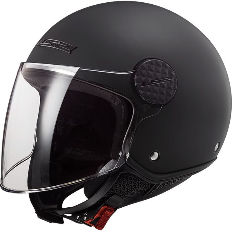 Casque moto adulte Jet LS2 Sphere Lux Mat Noir
