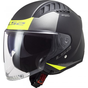 Casque LS2 OF600 Copter Urbane Mat Noir Jaune