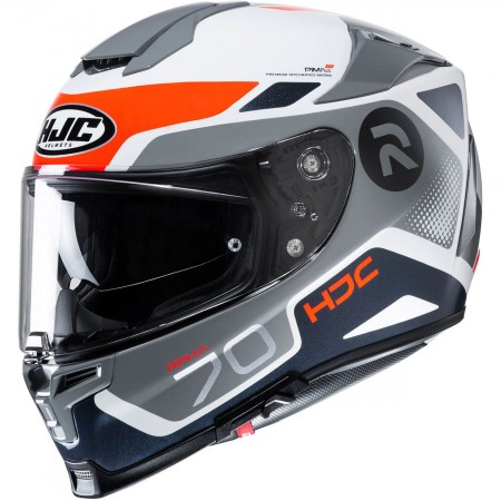 Casque HJC Rpha70 Shuky Blanc Gris Rouge