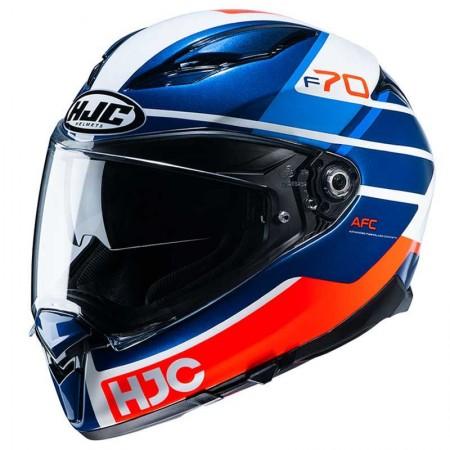Casque HJC F70 Tino Blanc Bleu Orange