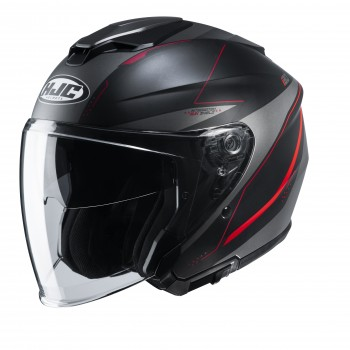 Casque HJC i30 Slight Mat Noir Gris Rouge