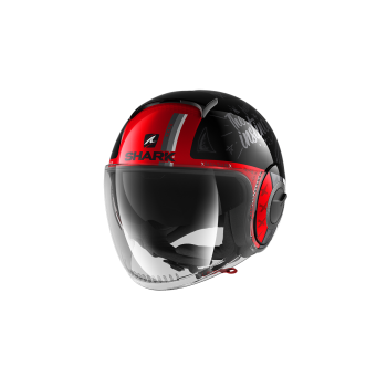 Casque Shark Nano Tribute RM Noir Rouge