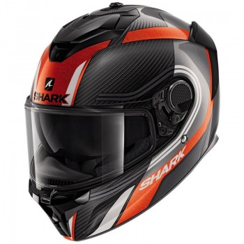 Casque Shark Spartan GT Carbon Tracker Carbon Anthracite Orange