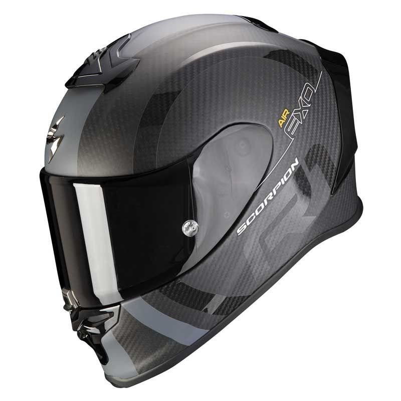 Casque Scorpion EXO-R1 Carbon Air MG Noir Mat Argent
