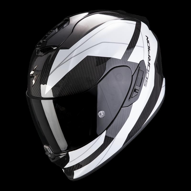 Casque Scorpion Exo-1400 Carbon Air Legione Noir Blanc