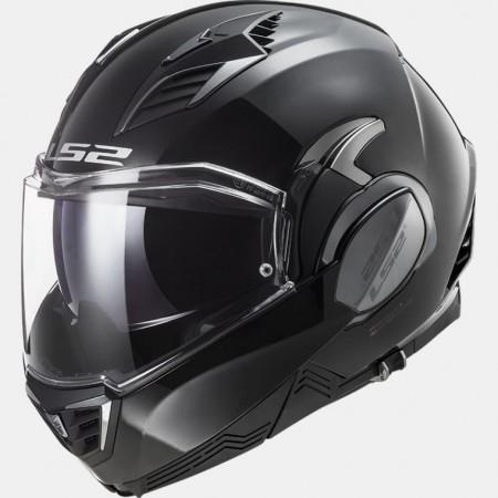Casque LS2 Valiant II FF900 Solid Noir Brillant