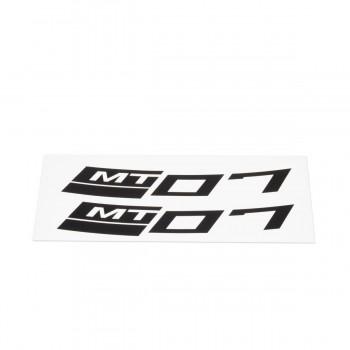 Stickers rétroréfléchissants Noir Yamaha MT-07 pour jante