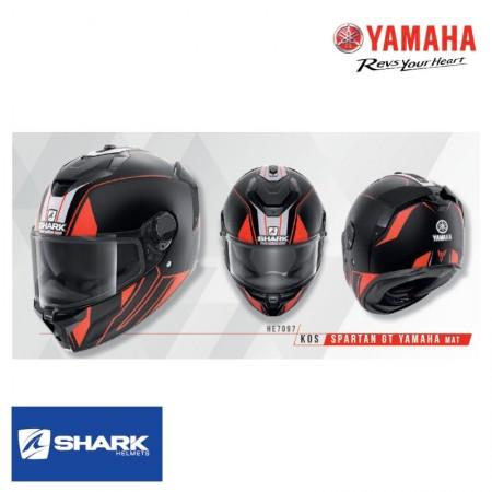 Casque Shark Spartan GT Yamaha Mat Noir Orange