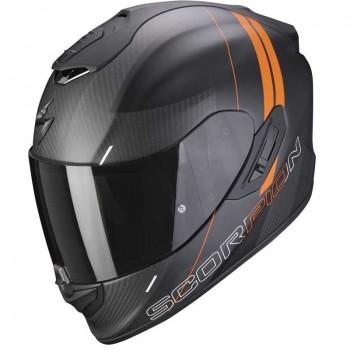 Casque Scorpion EXO-1400 Carbon Air Drik Mat Noir Orange