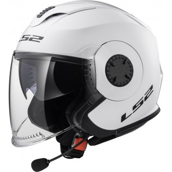 Casque LS2 Verso Solid Blanc Brillant