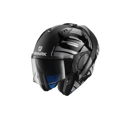 Casque Shark Evo-one 2 Lithion Dual Noir Gris Argent