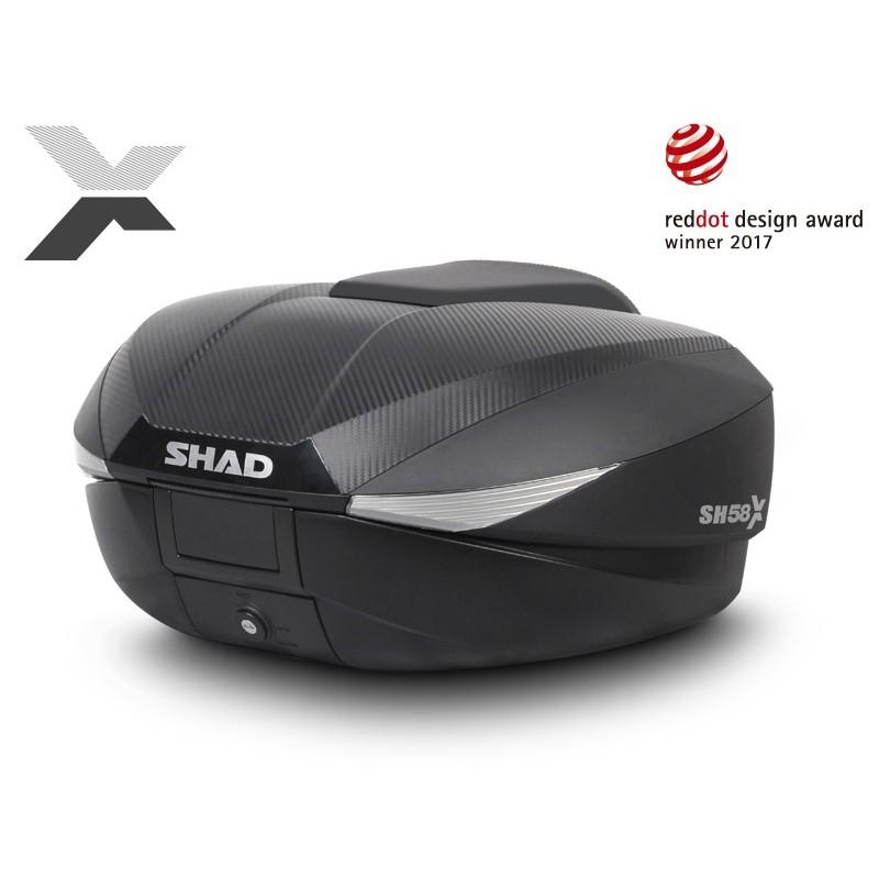 Top Case Shad SH58X Carbone