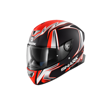Casque Shark Skwal 2 Replica Sykes Mat Noir Rouge