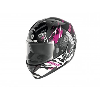 Casque Shark Ridill 1.2 Drift Noir Rose Blanc