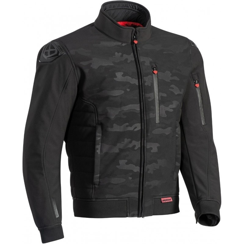 Blouson moto textile homme Ixon Soho Camouflage