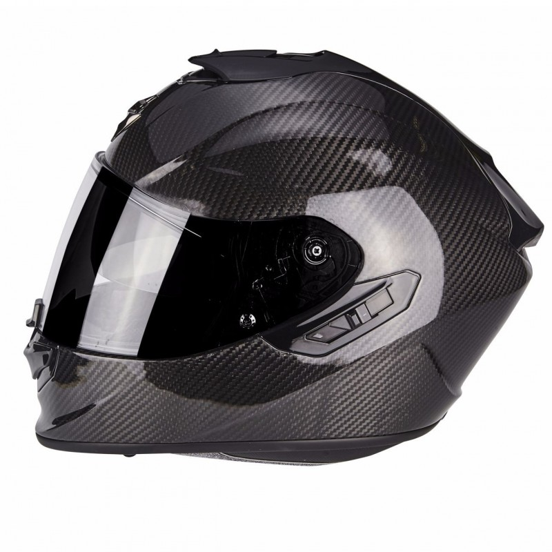Casque Intégral Scorpion EXO-1400 Air Carbon Solid Noir Brillant