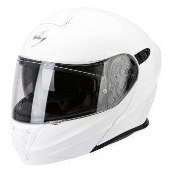 Casque Modulable Scorpion EXO-490 Solid Blanc