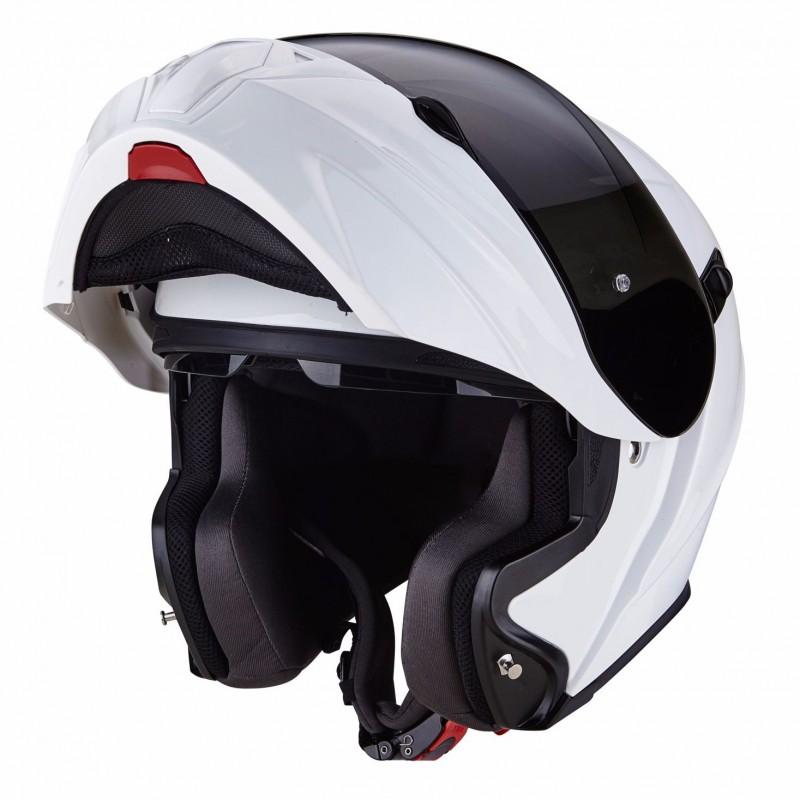 Casque Modulable Scorpion EXO-490 Solid Blanc