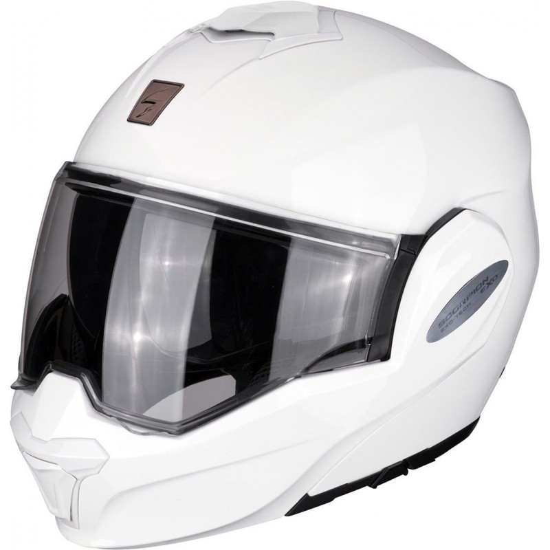 Casque Scorpion Exo-Tech Blanc Solid