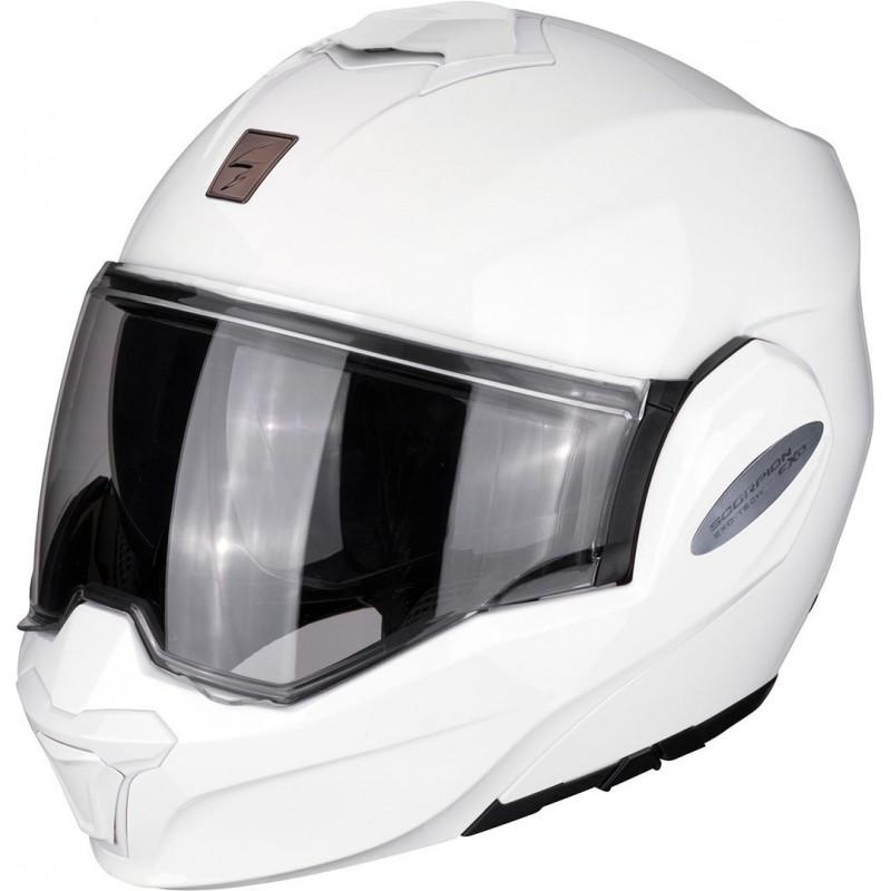 Casque Moto Modulable Scorpion EXO-Tech Solid Blanc