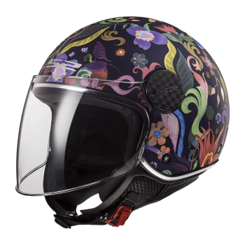 CASQUE JET LS2 SPHERE LUX BLOOM