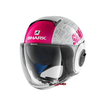 Casque moto Jet Shark Nano Tribute Blanc rose