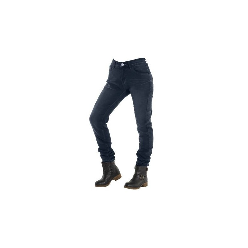 PANTALON JEANS OVERLAP CITY LADY NAVY