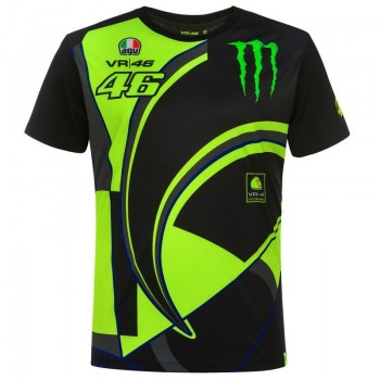 T-SHIRT VR46 REPLICA MONSTER DUAL BLACK