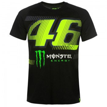 T-SHIRT VR46 MONZA MONSTER DUAL BLACK