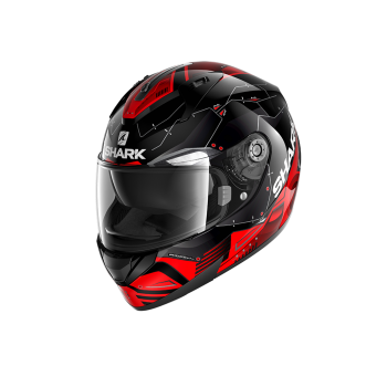 Casque Shark Ridill 1.2 Mecca Noir Rouge Gris