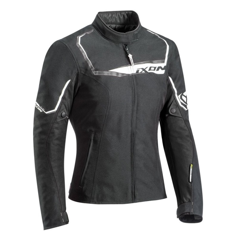 Blouson Moto Textile Hiver Femme Ixon Challenge Lady Noir-Blanc