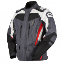 Veste moto homme textile hiver Furygan Apalaches Noir Gris Rouge