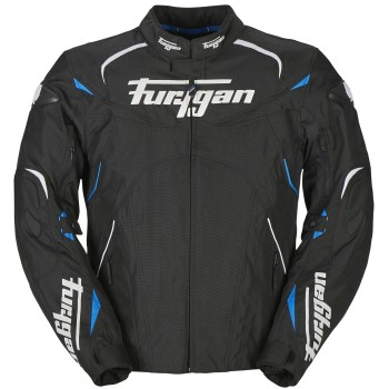 Blouson Furygan Narval Noir Blanc Bleu