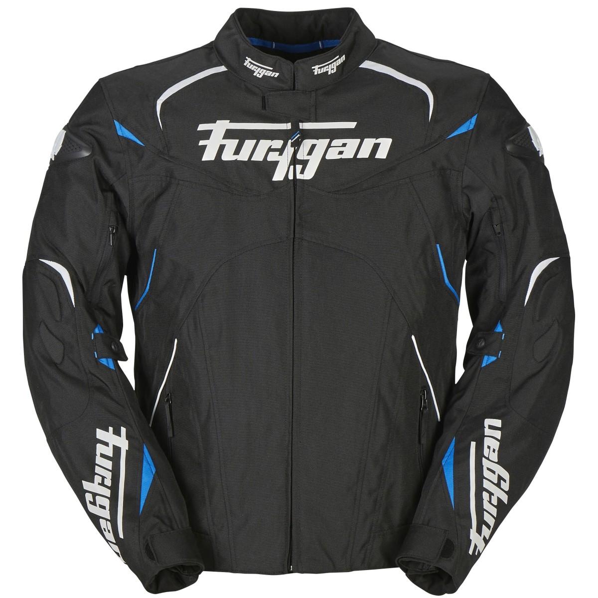 Blouson moto Homme Furygan Narval Noir Blanc Bleu