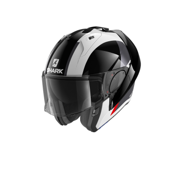CASQUE MODULABLE SHARK EVO-ES ENDLESS NOIR/BLANC/ROUGE