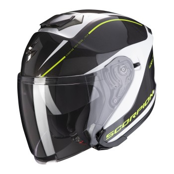 CASQUE JET SCORPION EXO-S1 SHADOW NOIR BLANC JAUNE