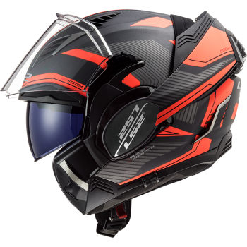 CASQUE MODULABLE LS2 VALIANT II REVO ORANGE