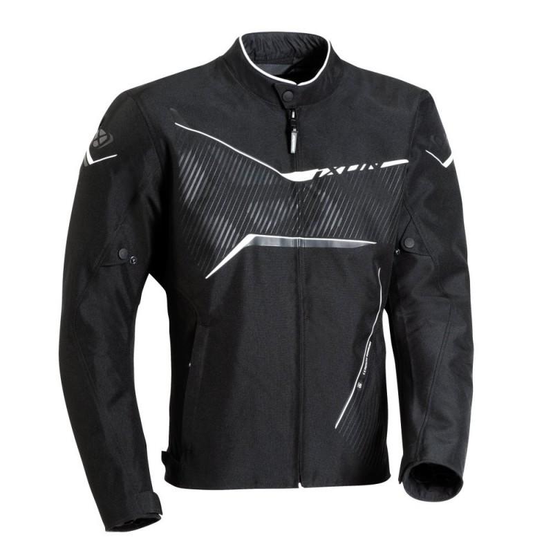 Blouson moto textile hiver homme Ixon Slash Noir/Blanc
