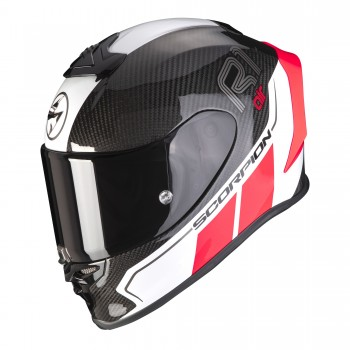 Casque Scorpion EXO-R1 Carbon Air Corpus II Noir Rouge Neon