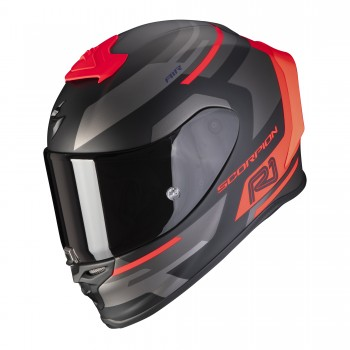 Casque Scorpion EXO-R1 Air Orbis Noir Mat Rouge Fluo