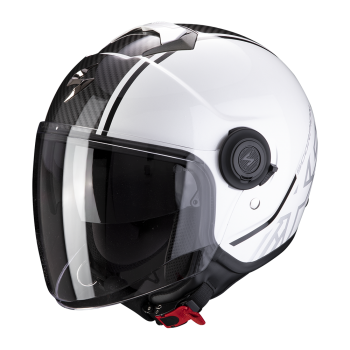 Casque Jet Scorpion EXO-City Avenue Blanc Noir