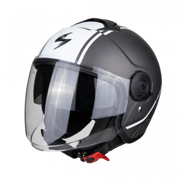 Casque Jet Scorpion EXO-City Avenue Mat Gris Blanc