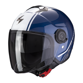 CASQUE JET SCORPION EXO-CITY AVENUE BLEU BLANC
