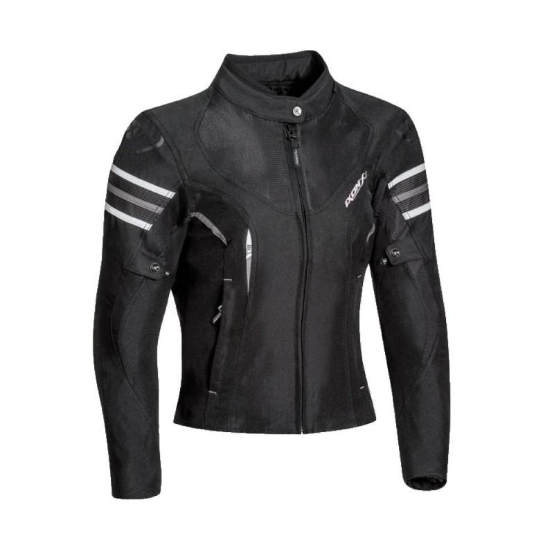 Blouson moto 3en1 Ixon Ilana Noir Blanc