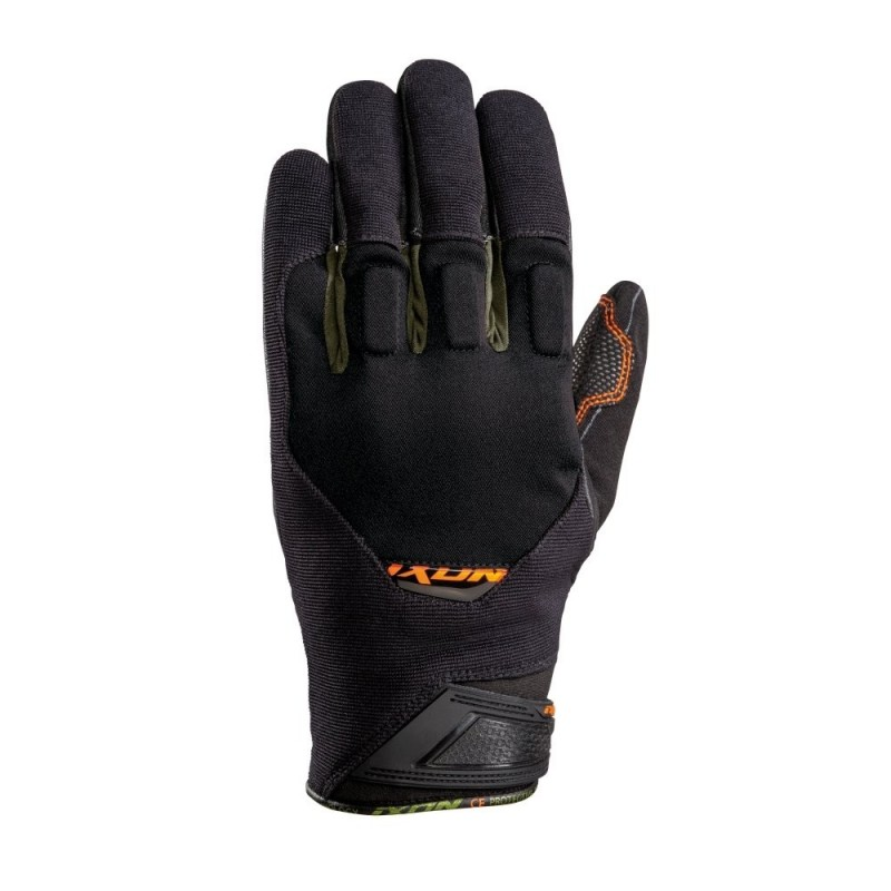 Gants Ixon RS Spring Noir Orange Kaki Face