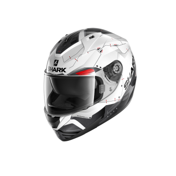 Casque Shark Ridill 1.2 Mecca Blanc Noir Rouge